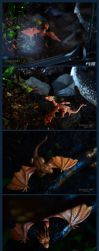 Little Smaug in the terrarium by dallia-art