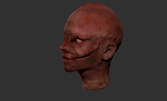Zbrush Sculpt - Decaying Zombie by evilpaw24614