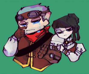 Steampunk babes by GrumpyRays