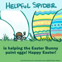 Easter Helpful Spider by nickv47