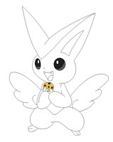 Victini lineart 1 by michy123