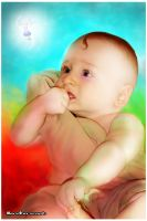 Babies and little fairy by mendha