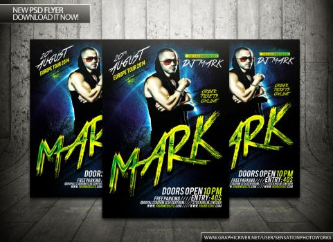 Dirty House Music Flyer Template by SensationPhotoworks
