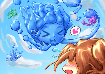 Terraria fan-art: Slime Rain by Jon-Smitten
