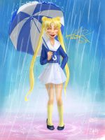 Usagi Umbrella by Harmoniah94