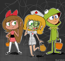 Brook And Friends Halloween Costumes by rachetcartoons