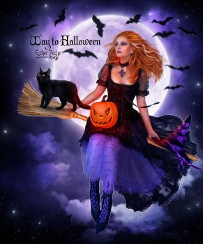 Way to Halloween by EstherPuche-Art