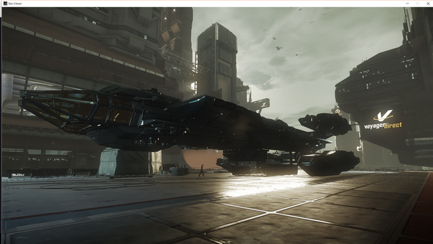 Star Citizen: Constellation landing pad by Troythecat2354