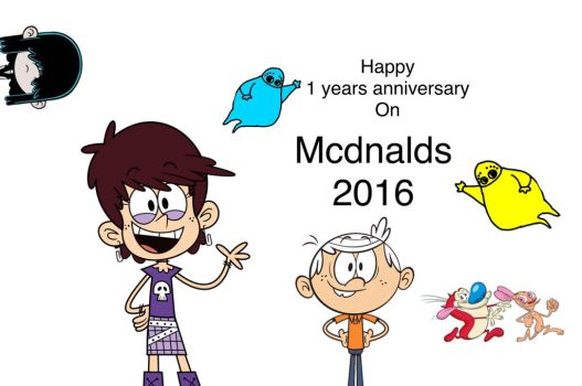 Happy one year anniversary on McDnald's 2016 by mcdnalds2016