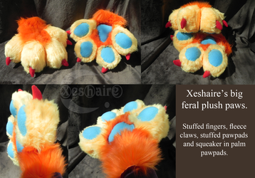 Xeshaire puffy paws by Chirpystumes