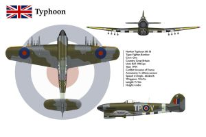 Typhoon 198 Sqn 3-View by WS-Clave