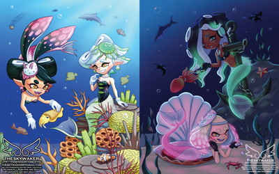Splatoon Mermay (5 24 2018) by theskywaker