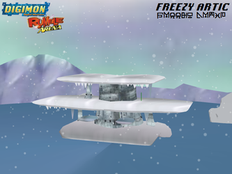Digimon Rumble Arena: Freezy Artic by Gale-Kun
