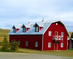 Red Barn Building by Techdrakonic