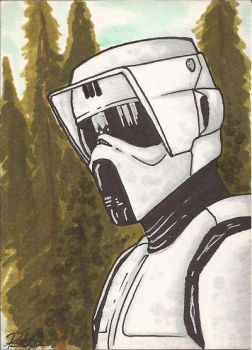 Scout Trooper Sketch Card by Ross-A