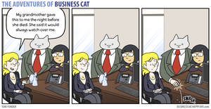 The Adventures of Business Cat - Ornament by tomfonder
