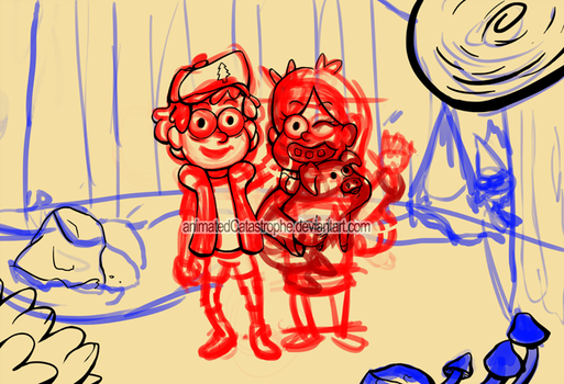 Mystery Twins wip by animatedCatastrophe