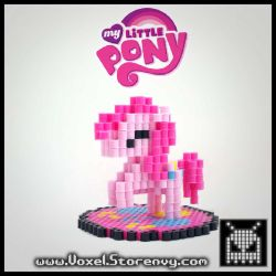 Pinkie Pie 3D Perler and How To! by VoxelPerlers