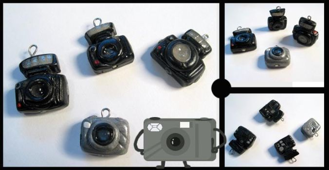 Tiny Digital Camera Charms by chat-noir