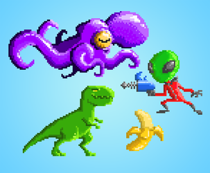 Pixel art (first steps) by Rodendron