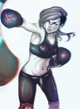 She is the boxer by shawbrando
