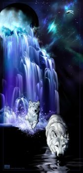 The Wolves in the Waterfall by Novawuff