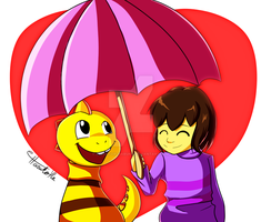 Frisk and Monster Kid: Determination by Executor-Haruko