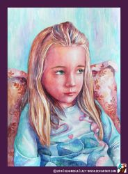 Portrait of a little girl by lazy-brush