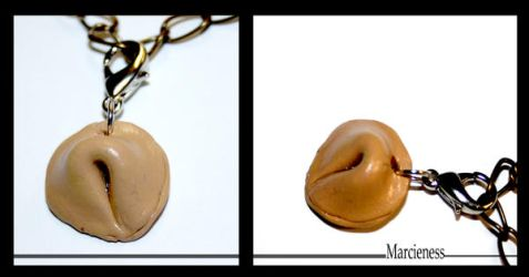 Fortune Cookie Charm by marcieness