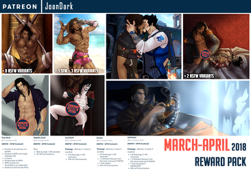 March-April Reward Pack Patreon by JoanDark