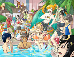 Summer Pool Party by DingDingy