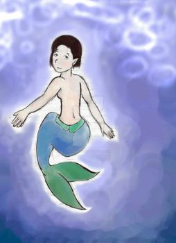 Mermaid Doodle Coloured in by quixoticduck