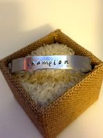 Champion hand stamped bracelet by theevergreenburrow