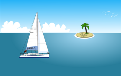 yacht in the ocean by NePosas
