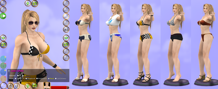 Sarah Bryant Five Swimsuits in One HTML5 Page by mygamem