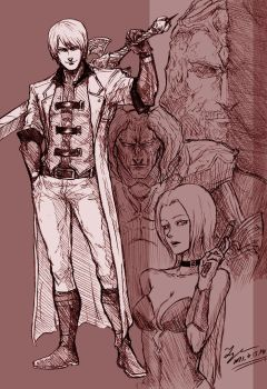 Devil May Cry 1 Sketch by tryvor