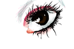 First eye drawing on the computer by aquakitty101