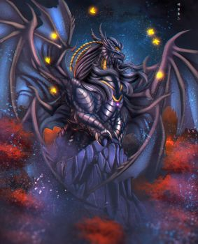 King Bahamut and the Seven Canaries by Ghostwalker2061