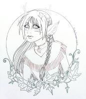 Ivy Faun Lineart by EmilyCammisa
