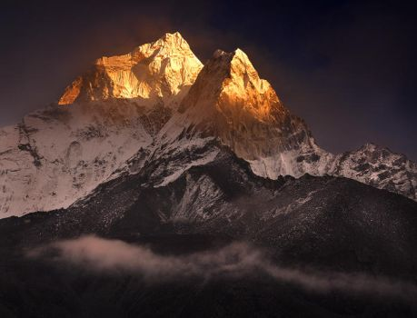 Clearing Storm over Ama Dablam by michaelanderson
