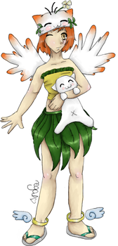 My Sister's Gaia Avatar by oORegalFlameOo