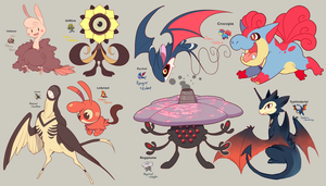 Pokemon fusions by Sony-Shock