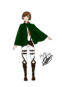 Me in SNK ver. with cape by Pikiwii