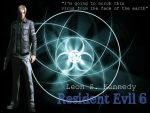 Leon S. Kennedy Resident Evil 6 Wallpaper by GraveCradle88