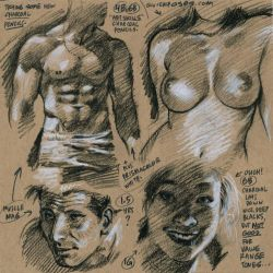 Life drawings from photoreference, 2017-10-15 by AdamWarren