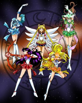 Eternal Sailor Soldiers by racookie3