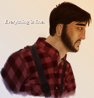 Everything is fine[?] (Gif) [NOT CREEPYPASTA] by CuryPotato