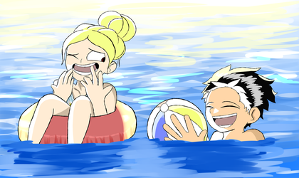 Chillin In The Pool by GabisMe