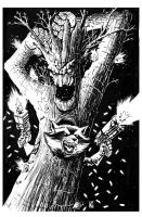 INKTOBER: Rocket and Groot by KR-Whalen