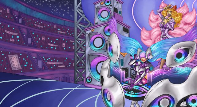 Popsta Ahri Concert (feat. DJ SONA) wallpaper by Mosquito-86